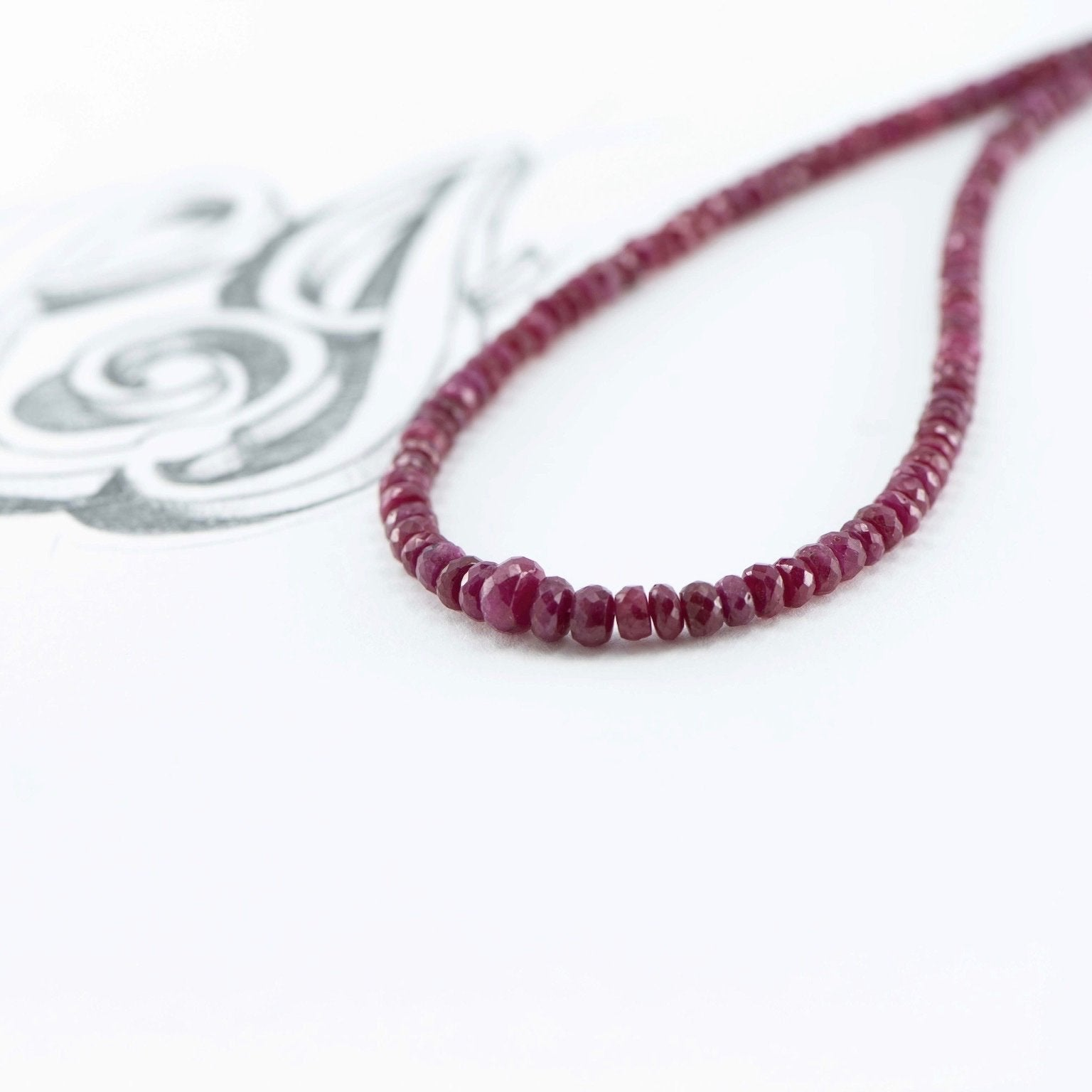 Precious Ruby necklace - Canterbury Jewellers Shop