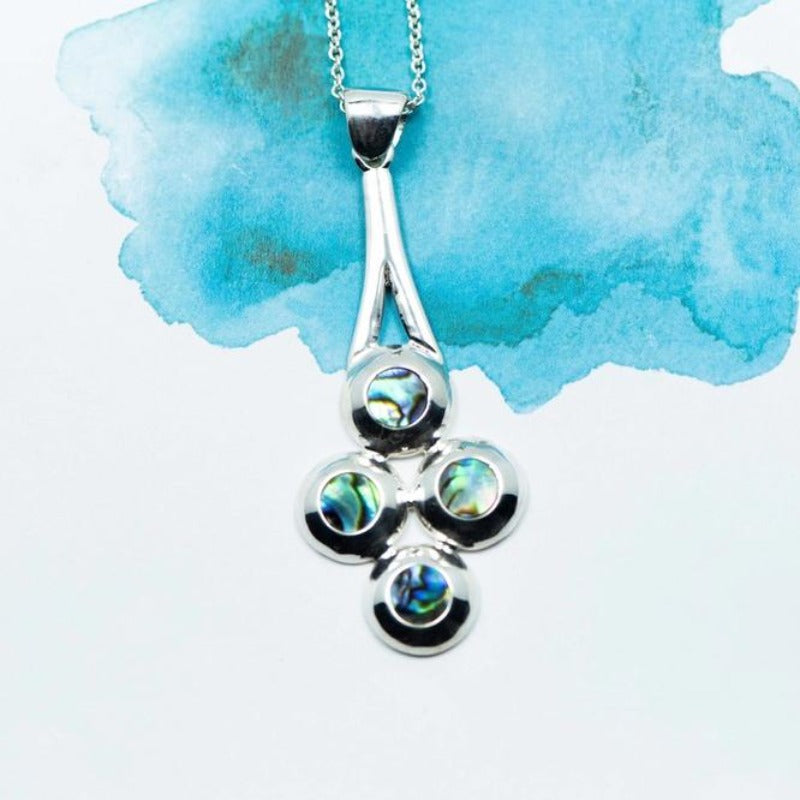 Southern Circle Paua inlay Sterling Silver pendant - Canterbury Jewellers Shop
