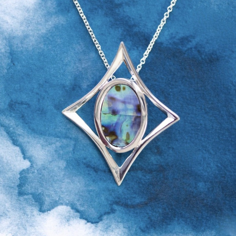 Southern Cross Paua Sterling Silver pendant - Canterbury Jewellers Shop