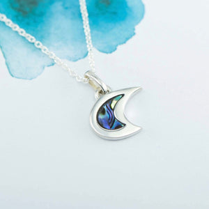 Venus Sterling Silver pendant with natural NZ Paua - Canterbury Jewellers Shop