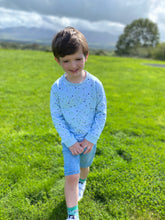 Load image into Gallery viewer, Baby/kids super soft sweatshirt blue star print