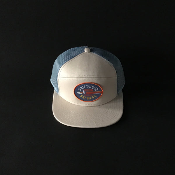 Driftwood-Mesh CAP White×Light Blue