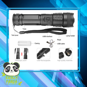 20k Lumens P50 Tactical Flashlight
