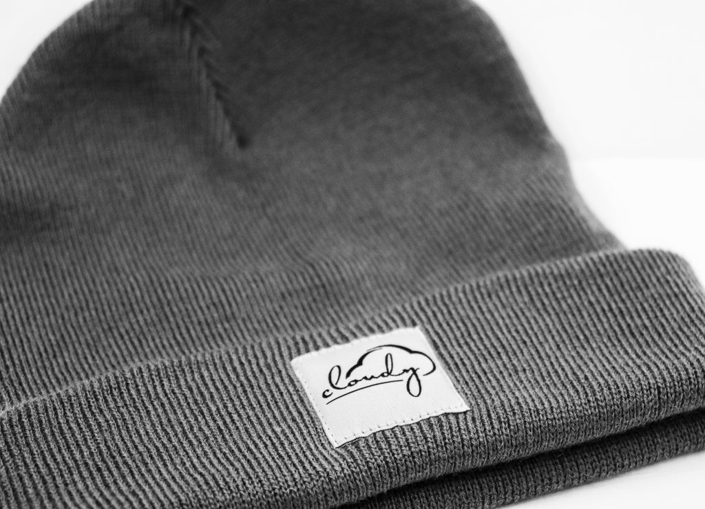 "Beanie ""cloudy"" graphite grey"