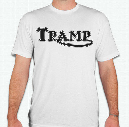 "TSY ""TRAMP"" Wht / Blk Men's T-shirt, XL/XXL ~ FINAL SALE"