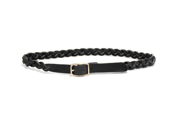BillyKirk No. 354, Braided Leather Belt, SLG, Black