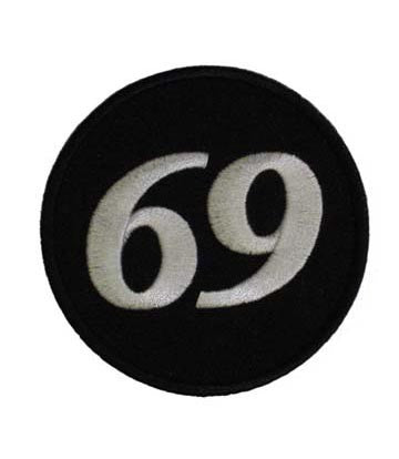 "A ""69"" ROUND WOVEN PATCH, ACCESSORIES"