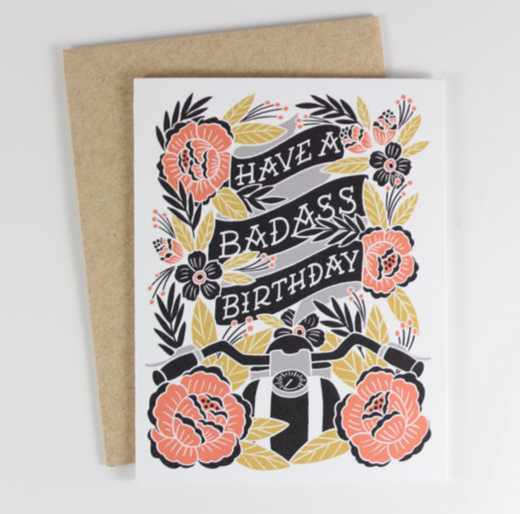 Wild Hart Paper Co., BADASS BIRTHDAY CARD