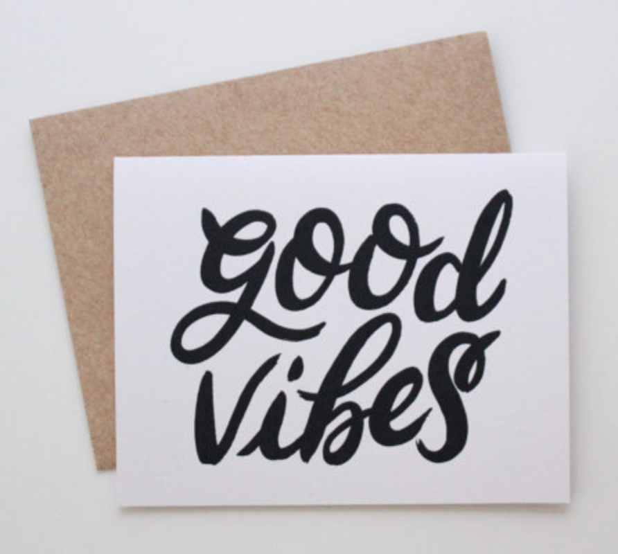 Wild Hart Paper Co., GOOD VIBES CARD