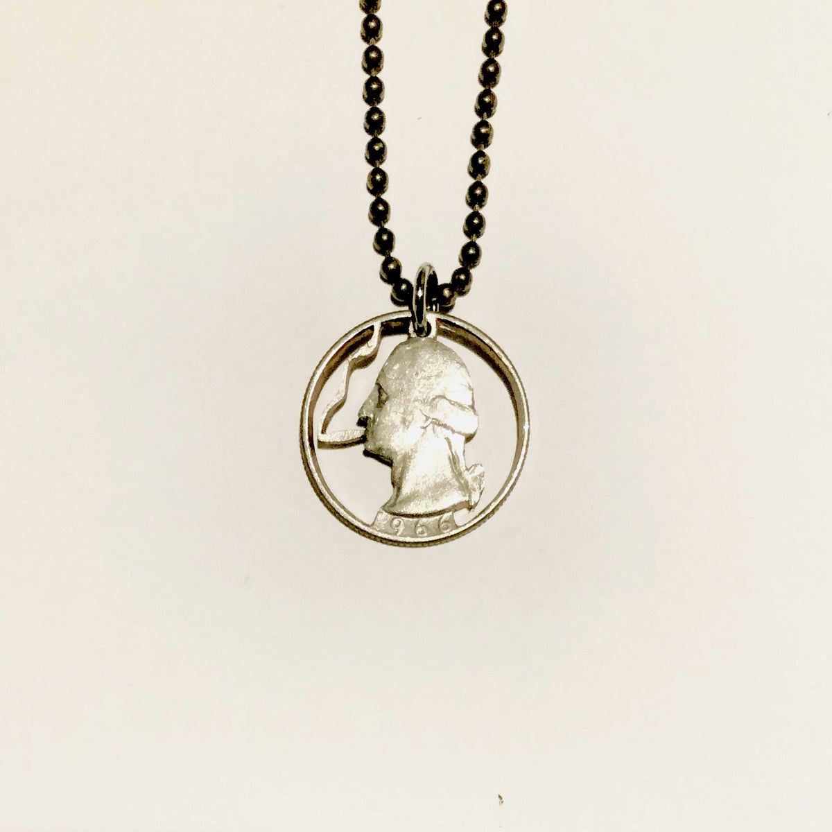 A TSY Hand-Cut Smokin' George Washington Coin Pendant Necklace, Jewelry, FINAL SALE!