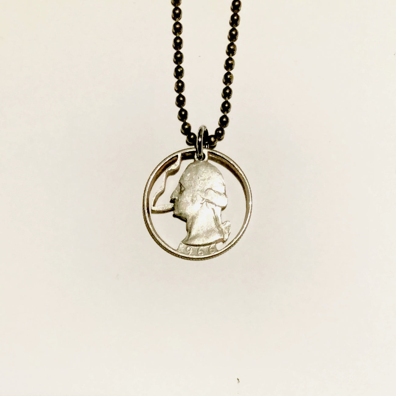A TSY Hand-Cut Smokin' George Washington Coin Pendant Necklace, Jewelry, NEW!