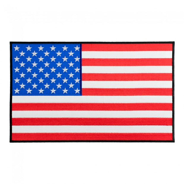 """AMERICAN FLAG"" 10"" x 6.5"" LARGE WOVEN BACK PATCH, ACCESSORIES"