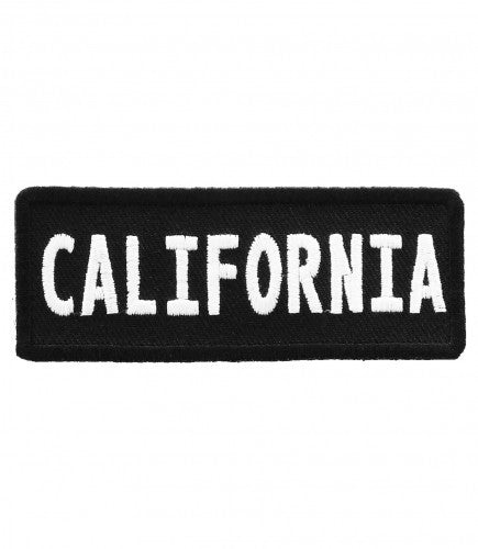 "A ""CALIFORNIA"" WOVEN PATCH, ACCESSORIES"