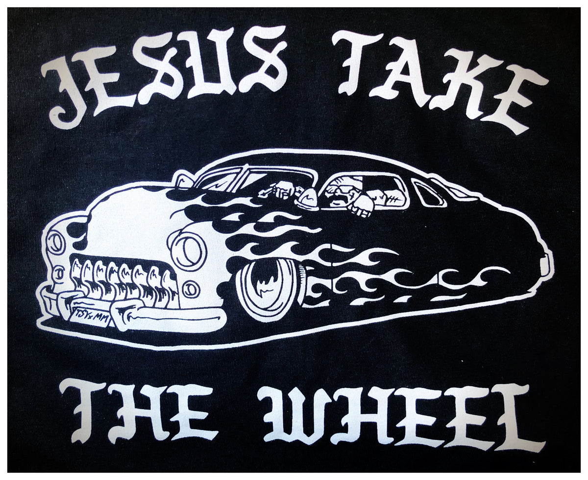 "A ""JESUS TAKE THE WHEEL"" TSY T-SHIRT, BLACK (NEW!)"