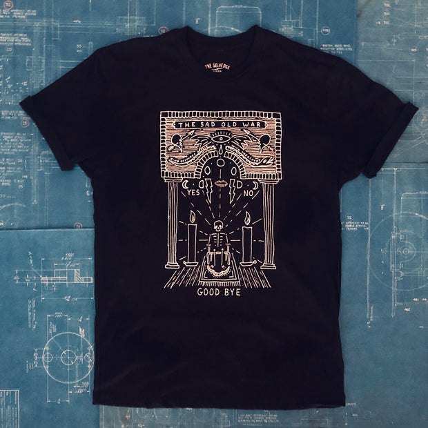 "A ""HOTEL TEN EYES / THE SAD OLD WAR"" TSY T-SHIRT, BLACK (NEW!)"