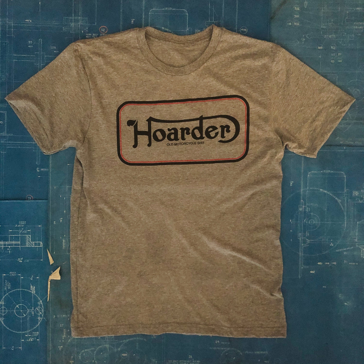 "A ""HOARDER NORTON LOGO"" TSY TEE T-SHIRT, HEATHER GREY (NEW!)"