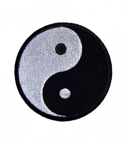 """YIN YANG"" ROUND WOVEN PATCH, ACCESSORIES"
