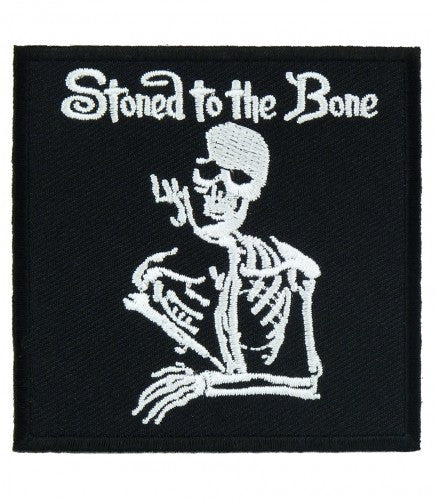 """STONED TO THE BONE"" WOVEN PATCH, ACCESSORIES"