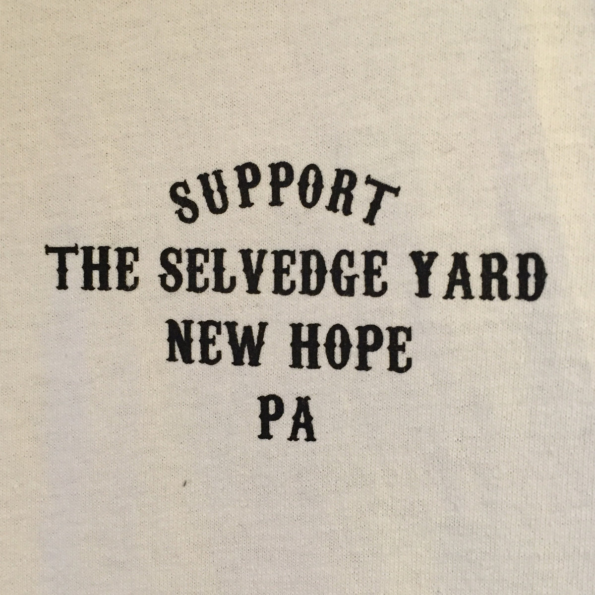 "A ""THE SELVEDGE YARD X SUPPORT GOOD TIMES"" MEN'S TSY T-SHIRT, WHITE"