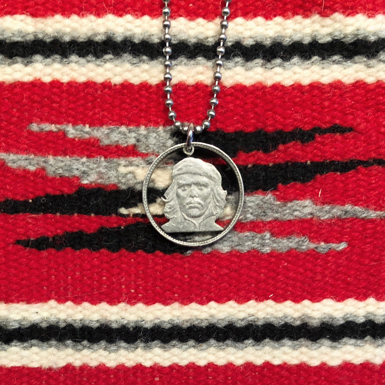 "A TSY Hand-Cut Ernesto ""Che"" Guevara Coin Pendant Necklaces, Jewelry, NEW!"