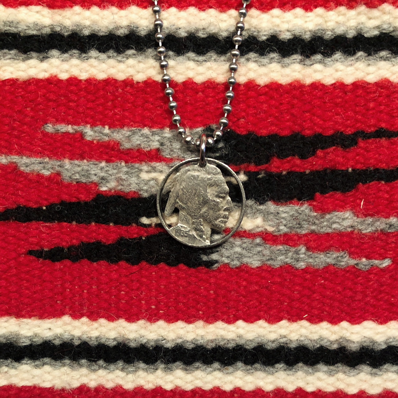 A TSY Hand-Cut Indian Head Nickel Coin Pendant Necklace, Jewelry, FINAL SALE!
