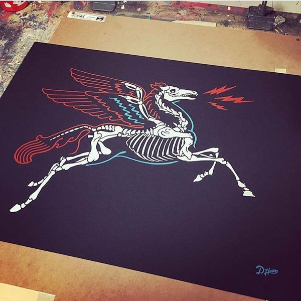 """A DHAAS X TSY PEGASUS"" POSTER 19"" X 25"", ACCESSORIES"