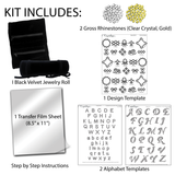 Velvet Jewelry Roll Kit