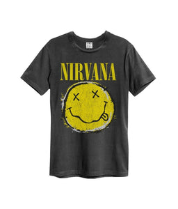 T-SHIRT NIRVANA WORN OUT SMILEY
