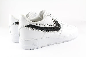 NIKE AIR FORCE GLITTER NERO E BORCHIE