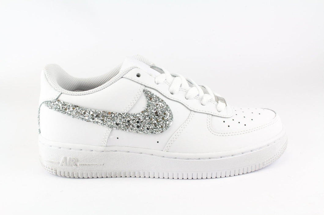 NIKE AIR FORCE GLITTER ARGENTO