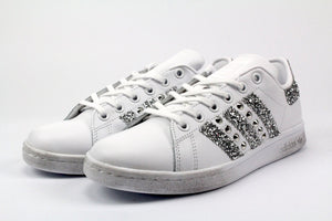 STAN SMITH BASE GLITTER ARGENTO BORCHIE