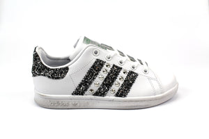 STAN SMITH BASE GLITTER BLACK SILVER E BORCHIE