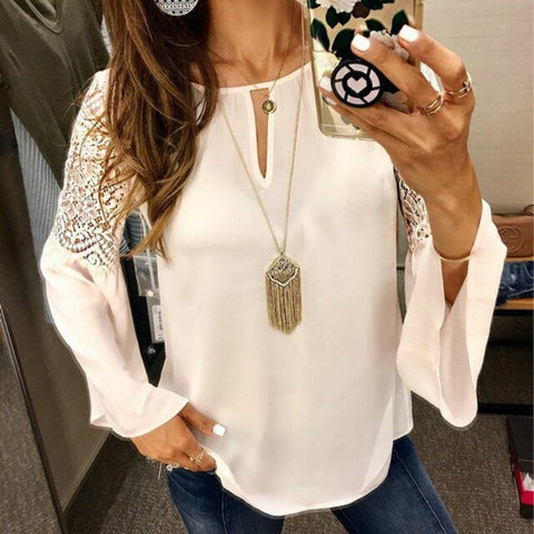 light chiffon ruffled top