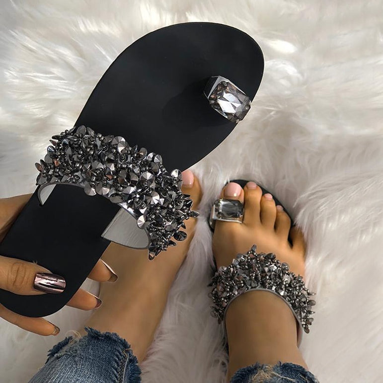 Crystal Sandals Outside summer slippers