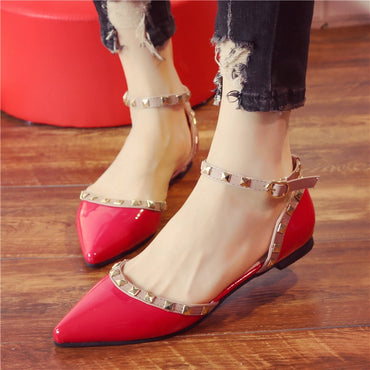 Flat Heel Leather Shoes sandal