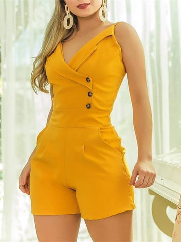 Elegant Casual Playsuit Short Jumpsuit