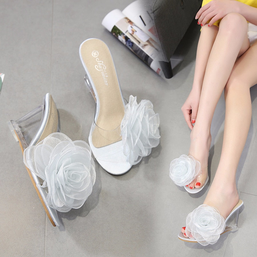 Cute High Heel Open Toe Slipper
