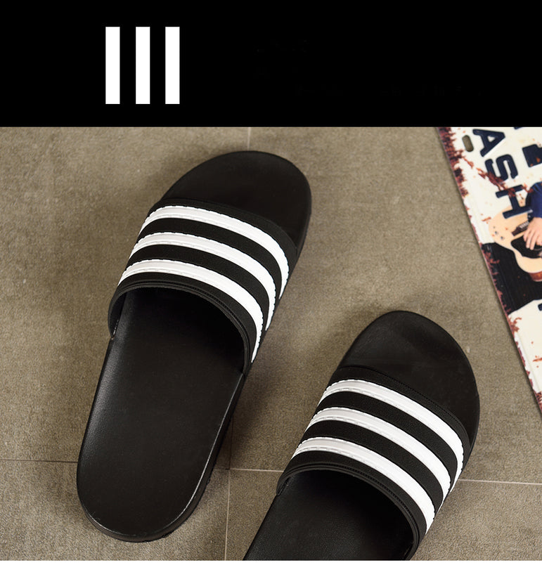 Black and white men's slippers