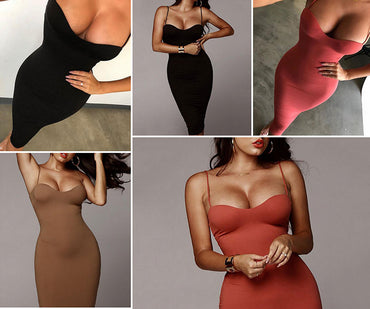 Backless Slim Bodycon Push Up Dress