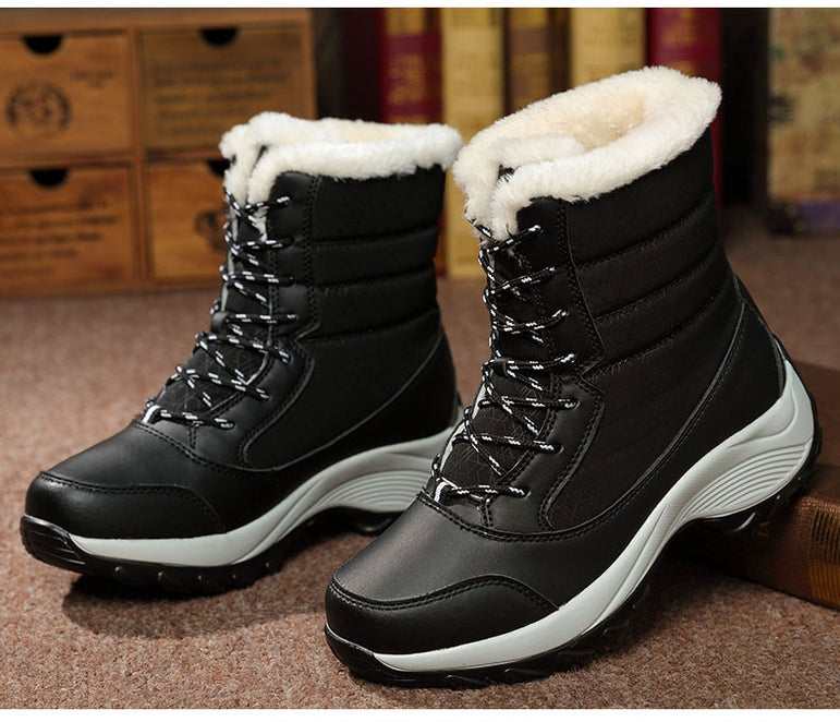 Women Boots Waterproof Winter Shoes