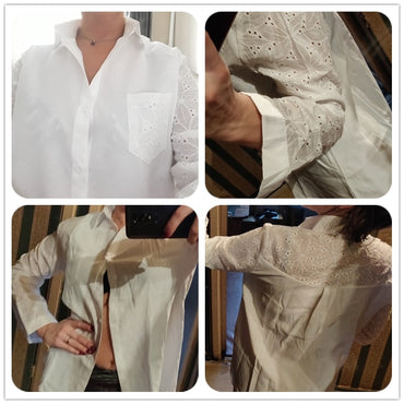 White Blouse Work Shirt
