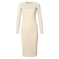 Elegant Slim Bodycon Midi Sheath Dress