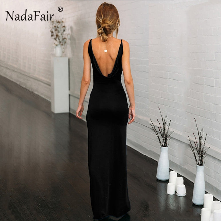 Backless High Split Club Sexy Dress
