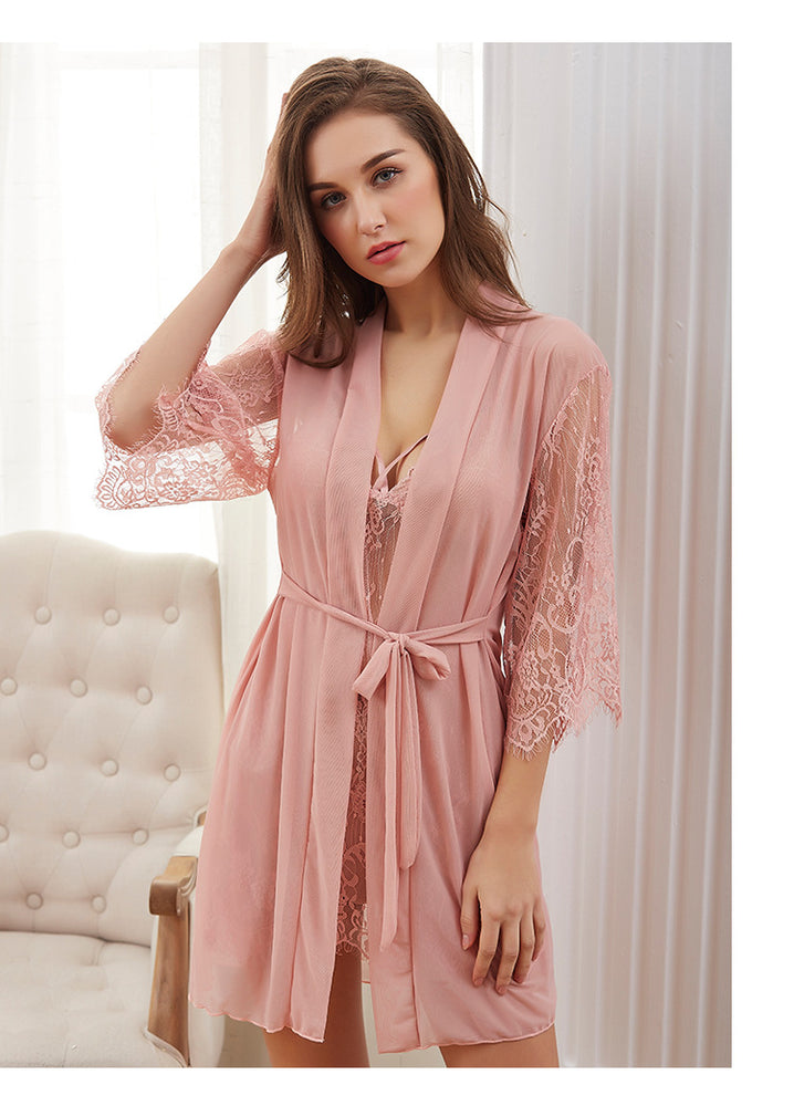 Sexy Lace V-Neck Night Dress