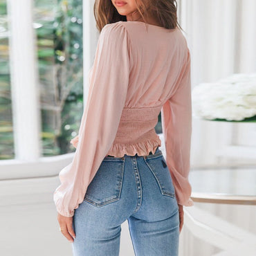 Casual Blouse female high waist