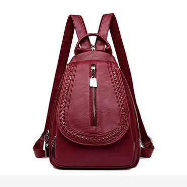 Women Leather shoulder Backpacks