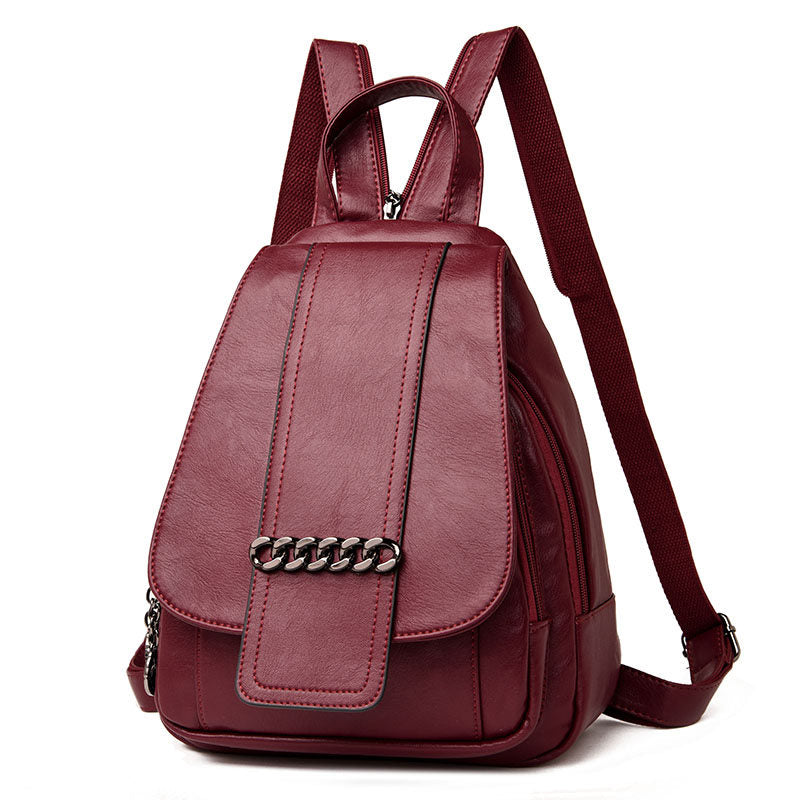 Leather Backpacks Shoulder Bag pack