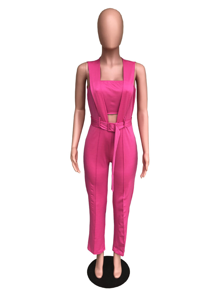 Casual Cut Out Office Wear Romper Jumpsuit