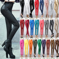 Leather Pants Female Sexy Elastic Stretch