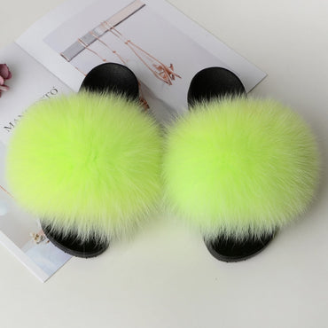 Furry Summer Shoes Woman Sandals